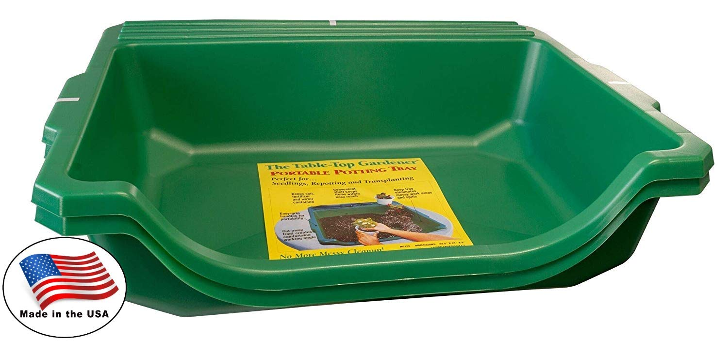 Argee RG155-2 Table-Top Gardener Portable Potting Tray, 2 Pack, Green