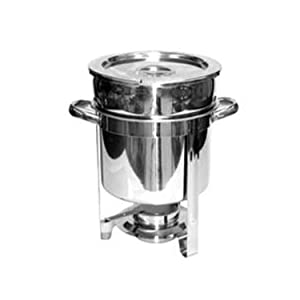 Tiger Chef Soup Warmer - 7 Qt. Soup Chafer Catering Supplies Food Warmer - Chafing Dish Buffet Set - Food Warmers For Parties