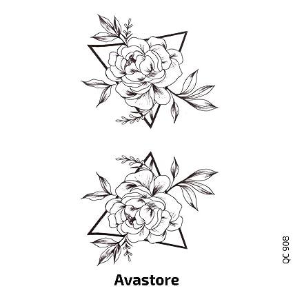 Avastore - Tatuaje temporal para mujer triángulo de flor: Amazon ...