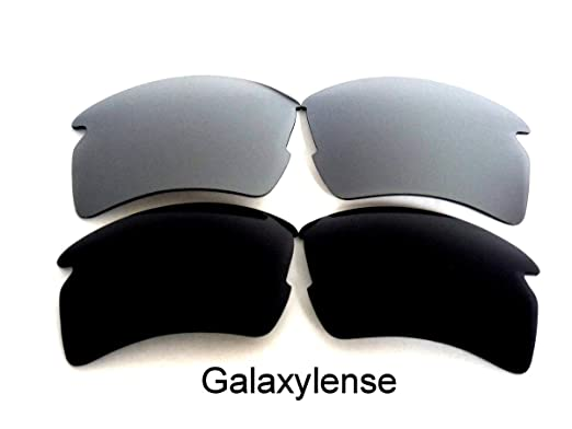 971d593422 Galaxy Replacement Lenses For Oakley Flak 2.0 XL Polarized Black Silver 2  Pairs - Clear