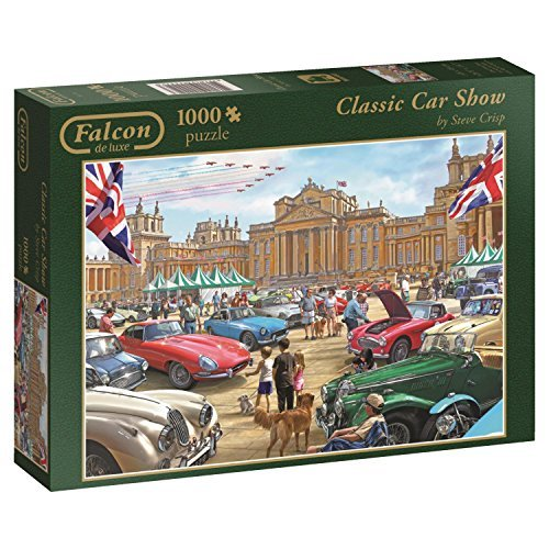 Falcon Games Classic Car Show Jigsaw Puzzle (1000-Piece, Multi-Colour) by Falcon Games