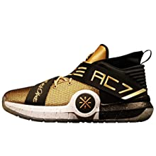 LI-NING All City 7 'One Last Dance' Wade Men Cushioning Basketball Shoes Lining Anti-Slip Professional Shock Absorption Sneakers Sports Shoes Gold ABAN047 US 8