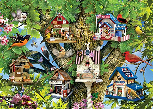 Ravensburger Bird Village 1000 Piece Jigsaw Puzzle Adults – Every Piece is Unique, Softclick Technology Means Pieces Fit Together Perfectly