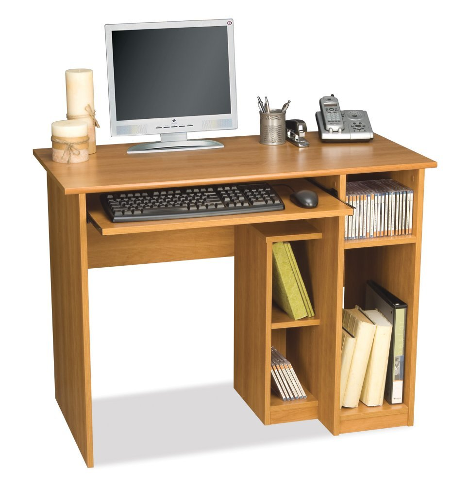 computer desk wooden home design. Black Bedroom Furniture Sets. Home Design Ideas