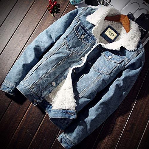 Vicgrey Giubbino Outerwear Blu Capispalla Giacca Invernali Corto Cappotto Manica Jacket Donna Elegante Addensato Denim Ragazze Jeans ❤ giacca Lunga rCqpwB1r