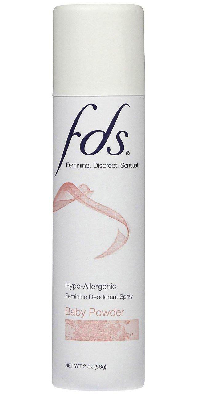 FDS Baby Powder Feminine Deodorant Spray 2 oz. (Pack of 6)
