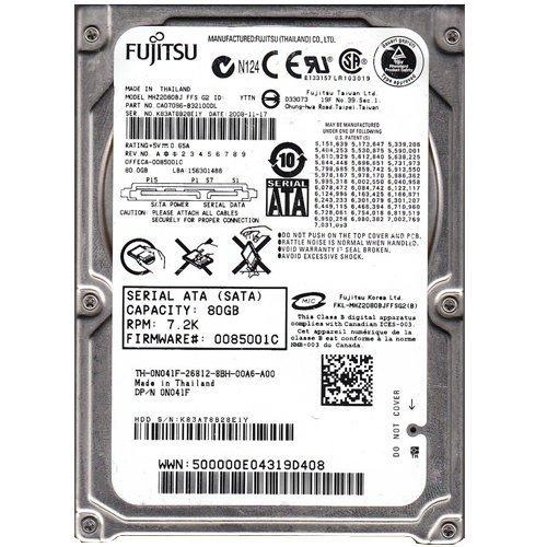 Mhz2080bj Fujitsu Mobile 80Gb 7200Rpm Sata Internal 2.5Inch Hard Driv