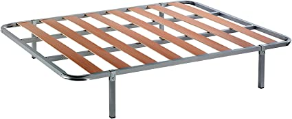 DAGOSTINO HOME BOUTIQUE COLLECTION SOMIER Lamas Marbella: 2x80x200 (160 X 200) + Juego de 8 Patas de 27 cm. De Altura y Abrazaderas de Union de ...