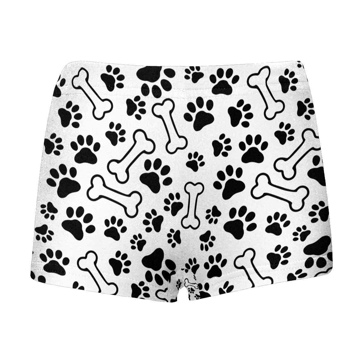 INTERESTPRINT Boys Funny Dog Bone and Paw Prints Footprint All Over Print Boxer Briefs 5T-2XL