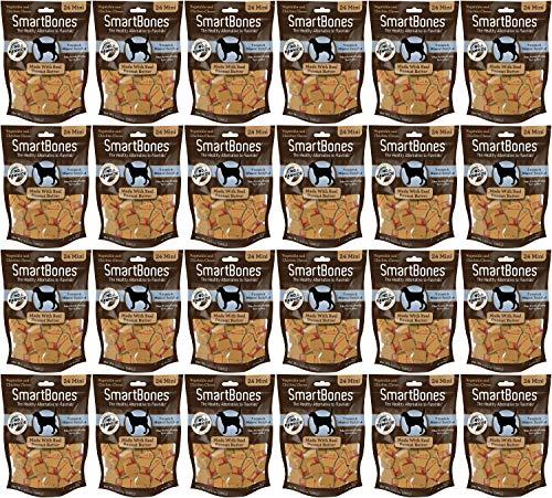 SmartBones Peanut Butter Dog Chews, Mini 24 Count, 24 Pack by SmartBones (Image #1)