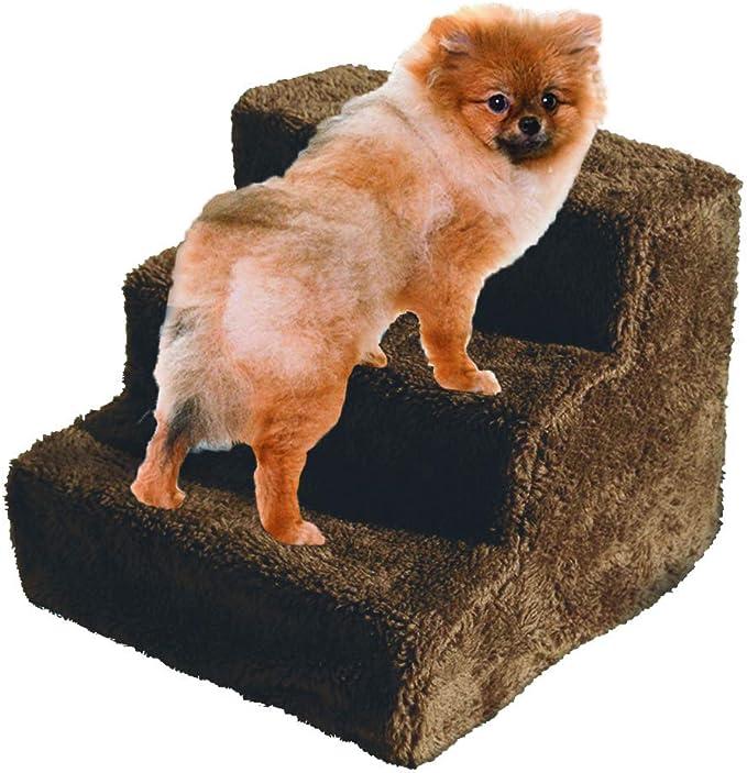 FRISKY FRIENDS Escaleras para Mascotas, escaleras para Perro, Escalera de 3 peldaños, Forro Polar, Escalera Cubierta, Interior rampa Gatito Gato Cachorro: Amazon.es: Productos para mascotas