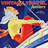 Graphique Vintage Travel Posters Wall Calendar - 16-Month 2019 Calendar, 12''x12'' w/ 3 Languages, 4-Month Preview, Marked Holidays