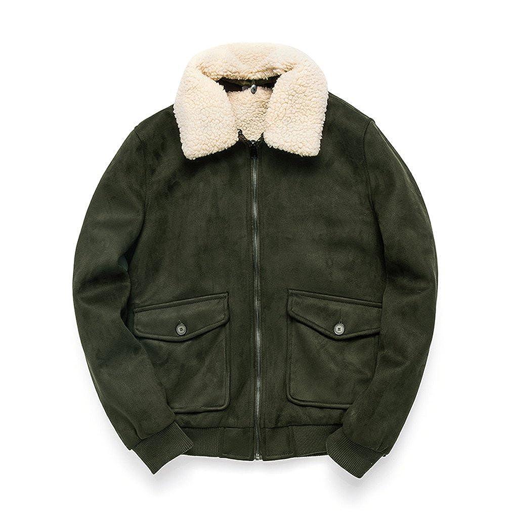Amazon.com: BRDTYSR Mens Winter Jacket Plus Velvet Parka Thicken Warm Bomber Jacket: Clothing