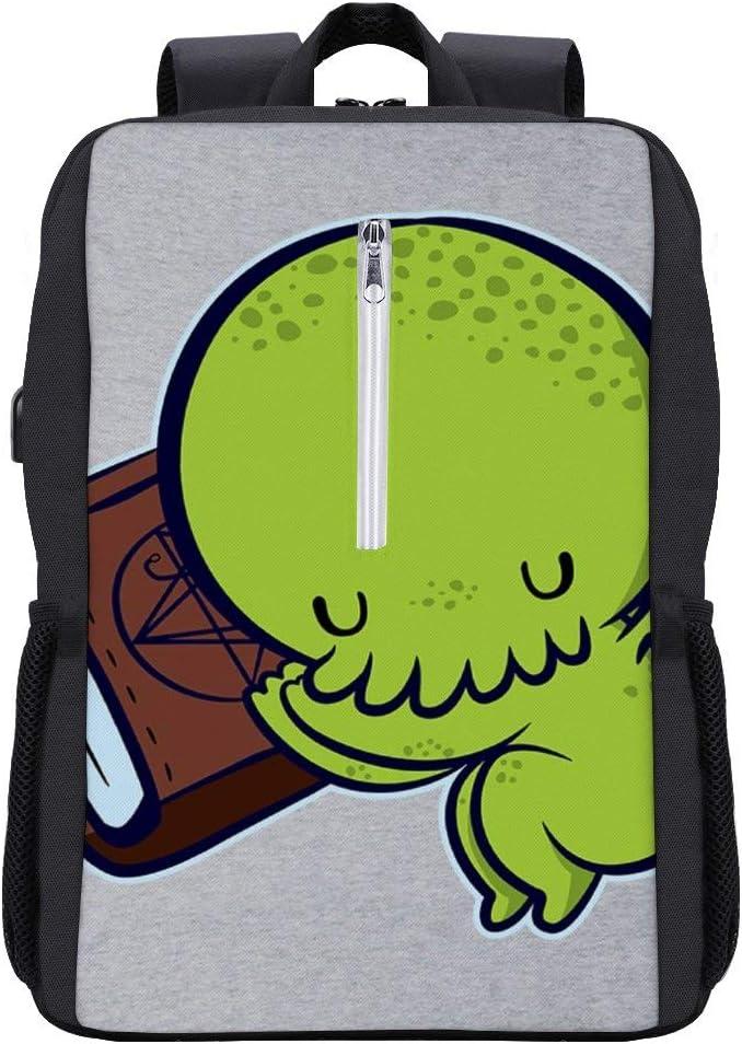 Baby Cthulhu Sleeping Backpack Daypack Bookbag Laptop School Bag with USB Charging Port