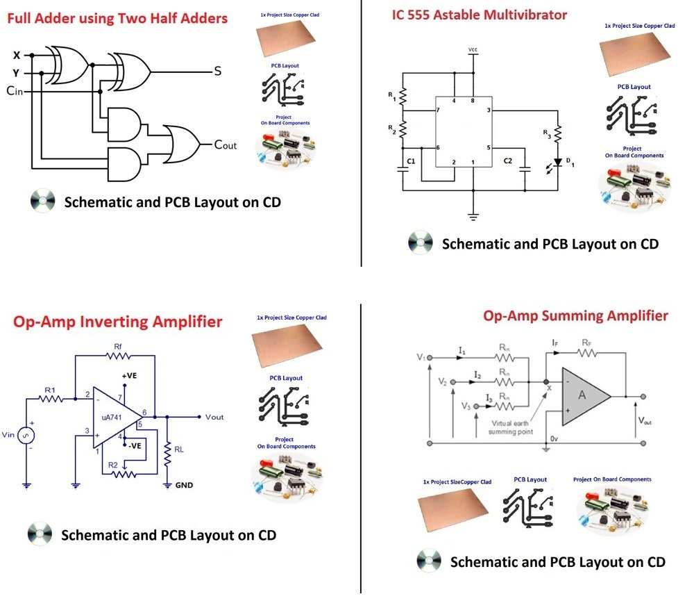 Make Own Printed Circuit Board For Be Btech Mtech Msc Bsc Supply Summing Amplifier Audio Mixer Schematic Diagram Diploma Epk076 Toys Games