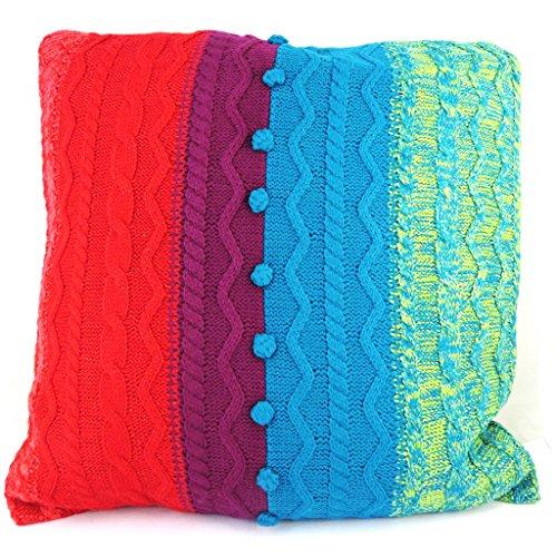 Creative cushion 'Desigual' red blue (42x42 cm (0.00''x16.54'') ).
