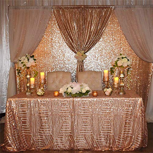 SoarDream Sequin Tablecloth Sparkly Glamorous Overlay 60