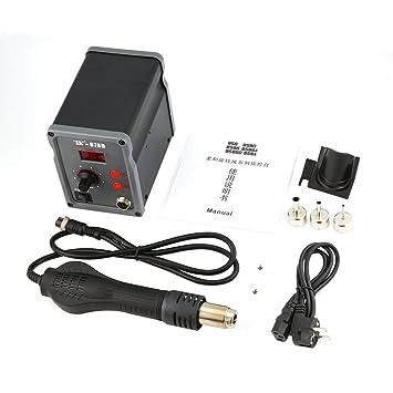 Footprintse TAIKD Estación de soldadura digital Soplador de aire caliente Pistola de calor Soldadura Soldadura Herramienta de reparación de hierro para ...