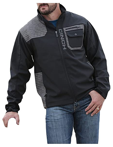 Cinch Mens Printed Contrast Bonded Softshell Jacket