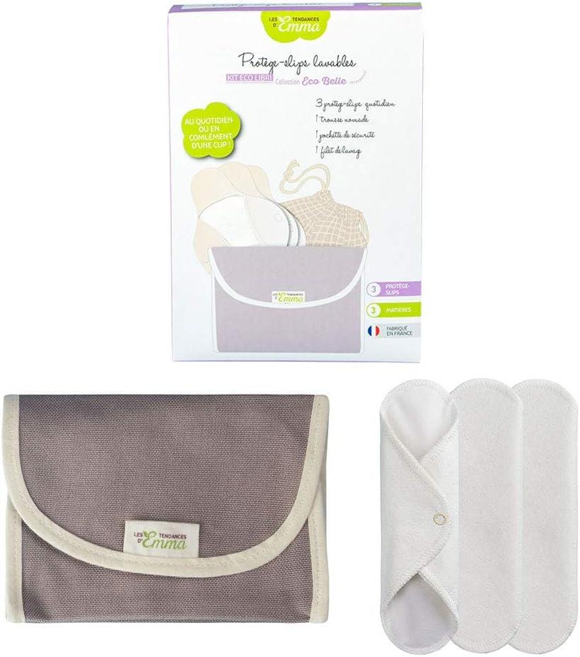 Estuche con 3 protectores lavables de bragas y bolsa de malla para lavado