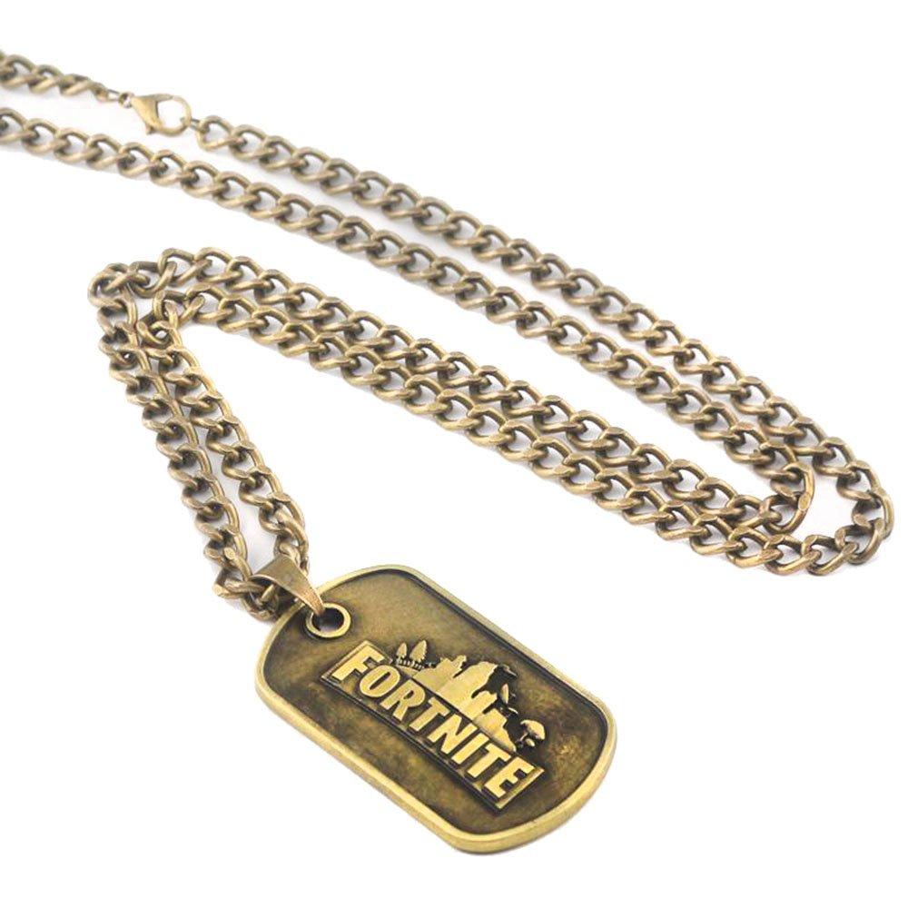 Dolovely Fortnite Logo Battle Royale Game Necklace Dog Tag Pendant Necklace