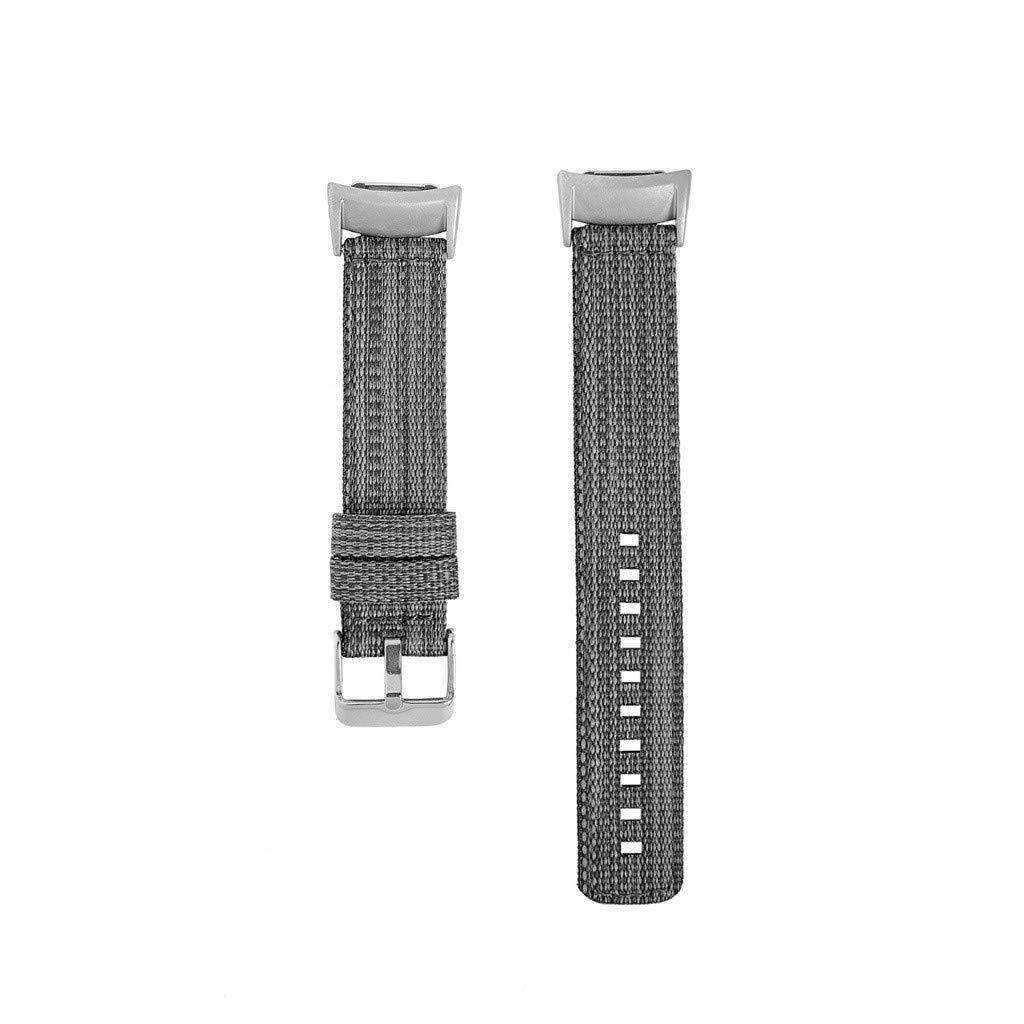 Lovewe Samsung Gear fit2/ fit2 pro Nylon Band, Nylon Weave Band Wrist Strap Woven Bracelet Strap Band For Samsung Gear fit2/fit2 pro (Black)