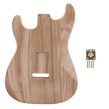 MagiDeal Guitarra Eléctrica Inacabada con Placa para Guitarra Fender ST Bajos Accesorios: Amazon.es: Instrumentos musicales