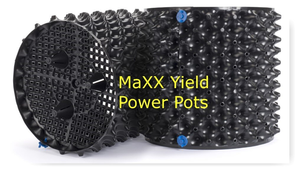 MaXX Yield ''Power Pot'' 12 PACK! of 5 Gallon Equivalent Air Root Pruning Flower Pots