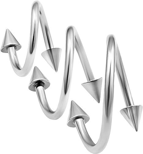 Acero Quirúrgico Septum Clicker con cuentas en forma de triángulo
