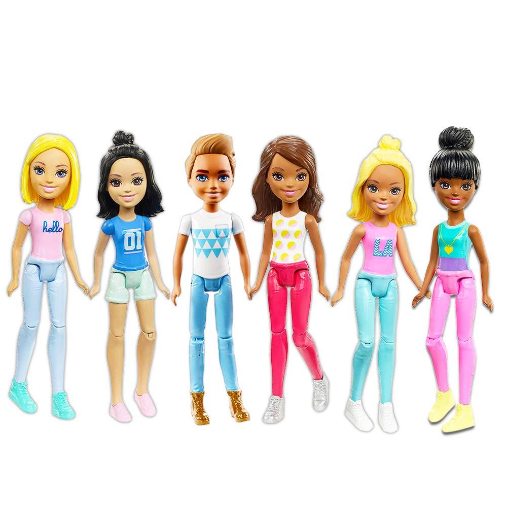 Buy Barbie Doll Party Favors Set ~ Bundle of 6 Barbie Mini Dolls