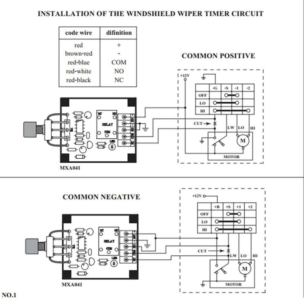12 VDC motor del limpiaparabrisas temporizador COCHE 3 - 30 segundos montado electrónico circuito: mxa041: Amazon.es: Coche y moto