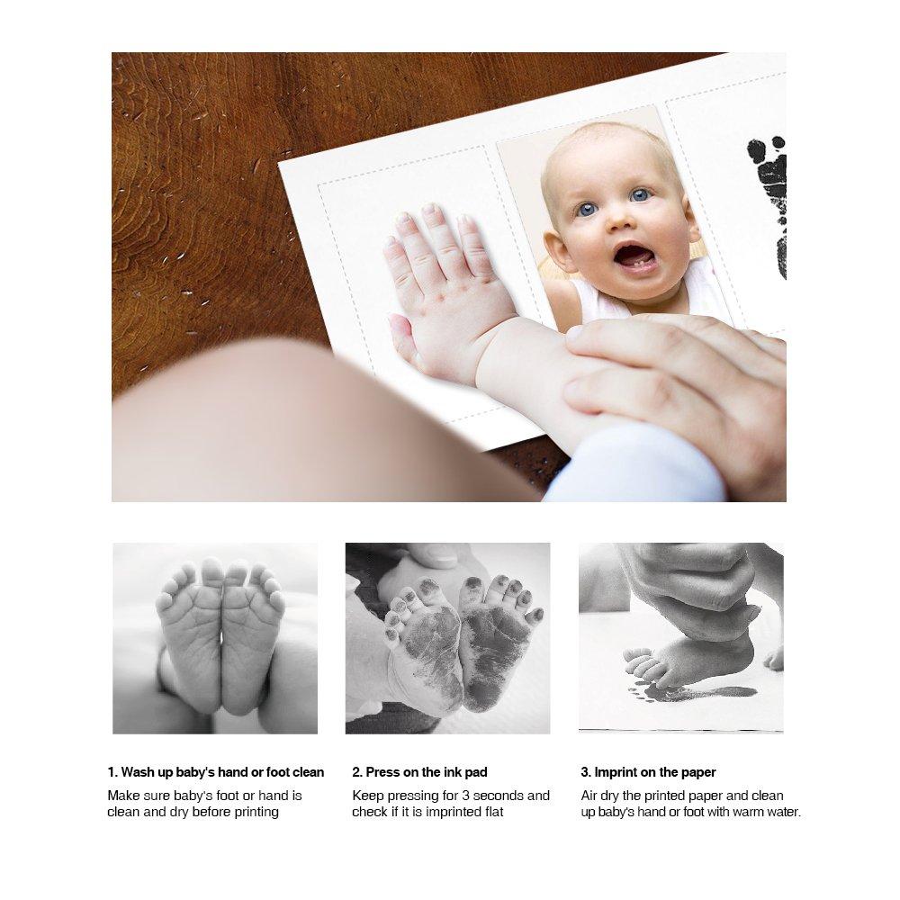 Haice Marco de la Foto Del Bebé Huellas Animales de pies y Manos Con la Tinta del Recuerdo la familia del bebé del recuerdo de regalo Caja de Regalo ...