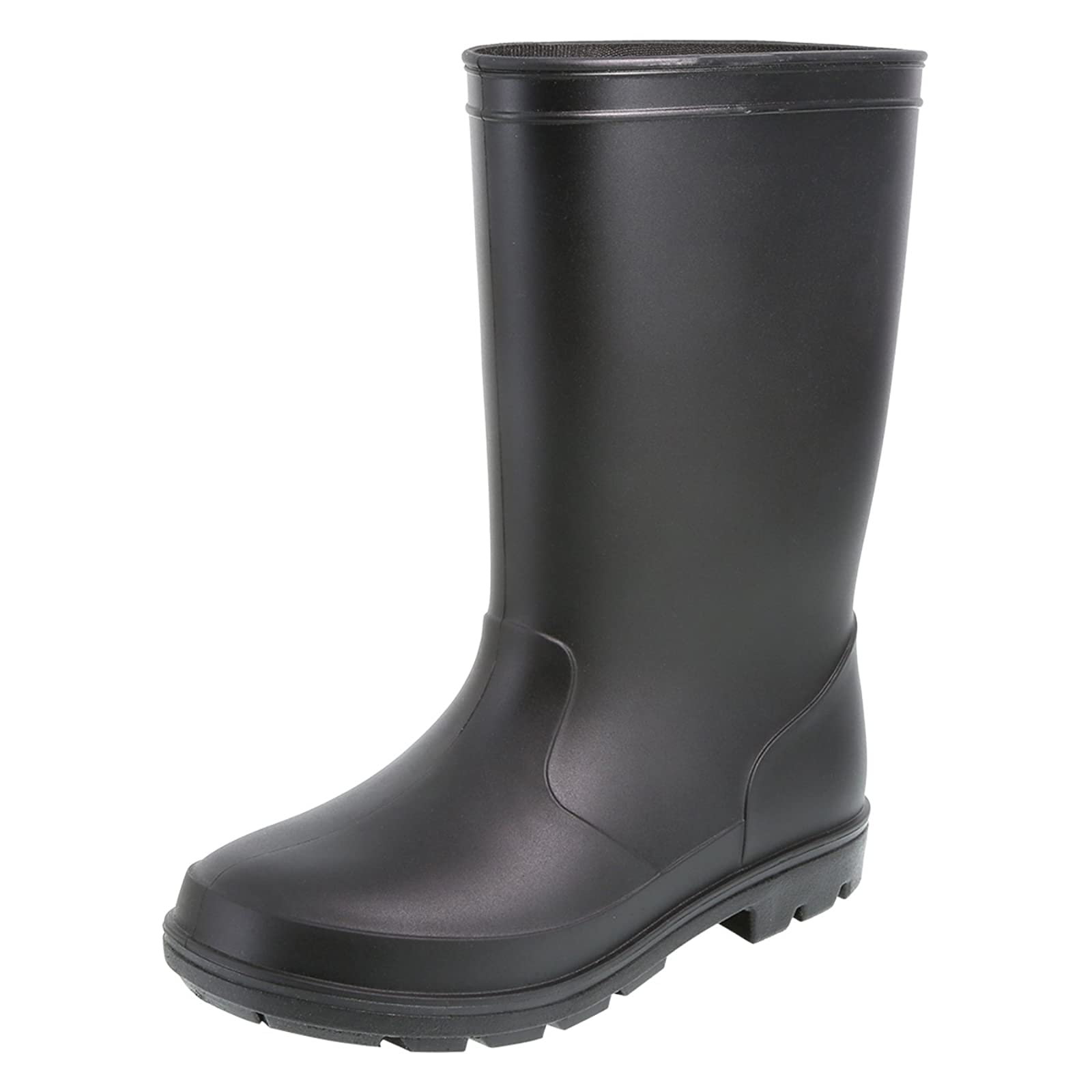 Rugged Outback Black Kids' Solid Rain Boots 174112010 - 4