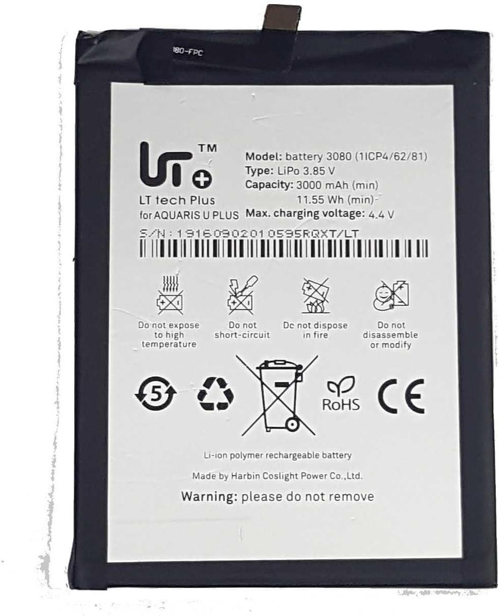 Todobarato24h Bateria Compatible con BQ Aquaris U/U Plus/U Lite 3000 mAh Voltaje 4.4v: Amazon.es: Electrónica