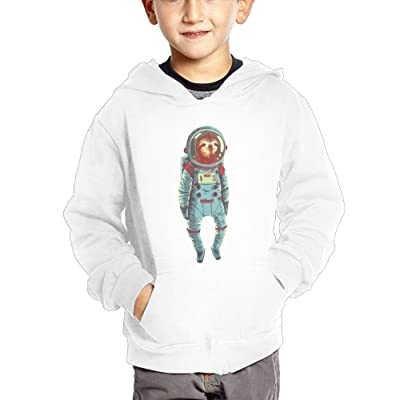 Astronaut Sloth Teen Boys Pullover Hoodie Hip Hop Pocket Sweater