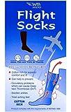 Black Cotton Rich Anti-Dvt Flight Socks