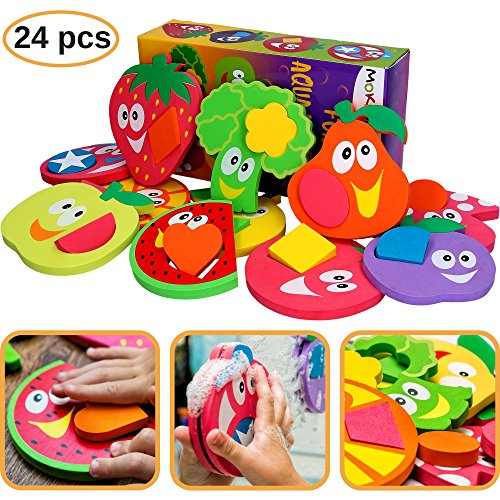 Bath Toys for Kids - Bathtub Toys for Toddlers - Baby Puzzles for Girls - Bath Stickers for Boys - Toddler Puzzle Educational Foam - Fun Tub Toy Set - - Bathtub Shape
