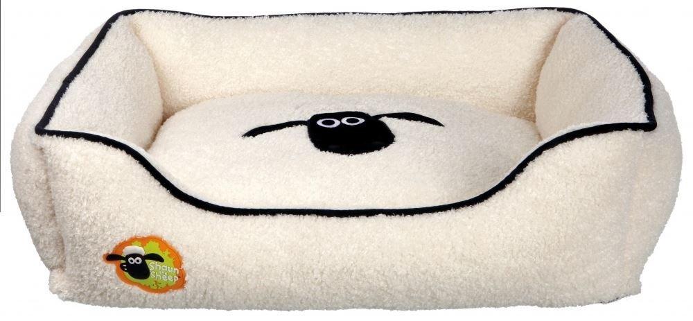 Trixie Shaun la oveja angular perro cama, 65 x 50 cm, color crema: Amazon.es: Productos para mascotas