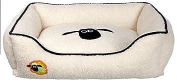 Trixie Shaun la oveja angular perro cama, 65 x 50 cm, color crema