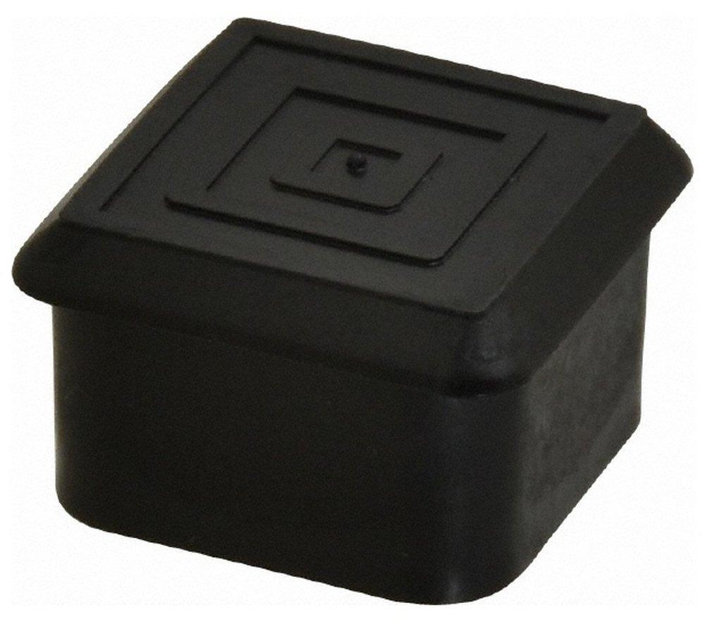 Square Head Plug, 1 OD, Polyethylene, Black 100 Pack