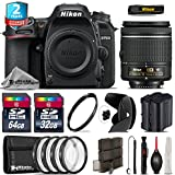 Holiday Saving Bundle for D7500 DSLR Camera + AF-P 18-55mm + 64GB Class 10 Memory Card + 2yr Extended Warranty + 32GB Class 10 Memory + Backup Battery + 4PC Macro Kit - International Version