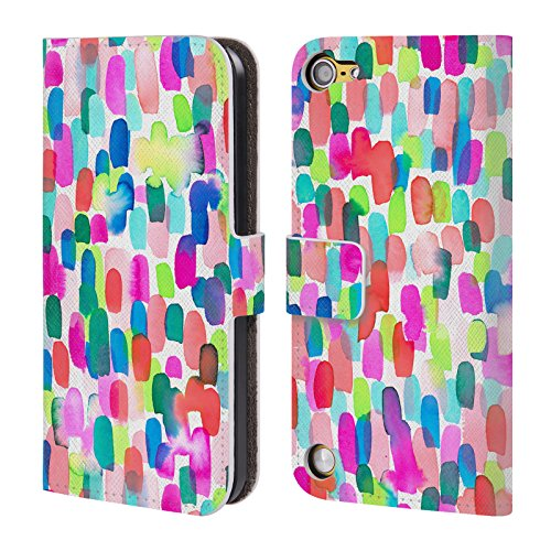 Official Jacqueline Maldonado Delight Multicolour Patterns Leather Book Wallet Case Cover For iPod Touch 5th Gen / 6th Gen