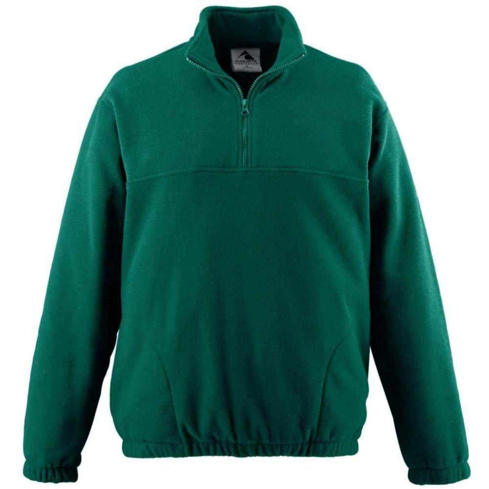 Augusta Activewear Chill Fleece Half-Zip Pillover, Dark Green, XXX Large by Augusta Activewear