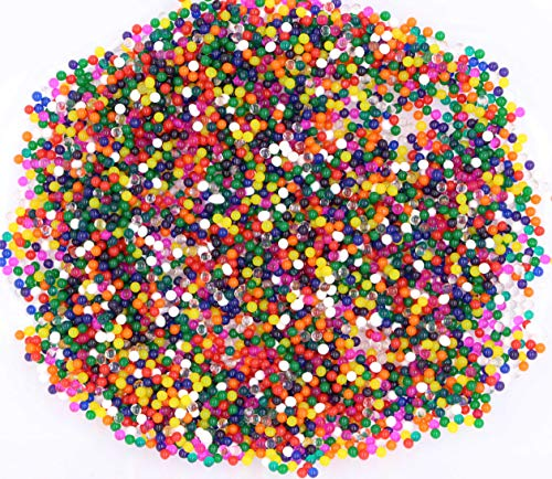 LeBeila Water Beads - 9000 Orbies Beads Growing Balls Pack, Non Toxic Jelly Water Gel Expandable Waterbeads for Spa Refill, Kids Sensory Toys, Bottle Vases, House Aqua Plants, Wedding Home Decor ()