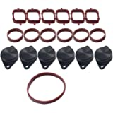 6PCS 33mm Swirl Flap Flaps Delete Removal Blanks Plugs Replacement for BMW M57 M57N M57TU,Manufactured Since 2004(Black)
