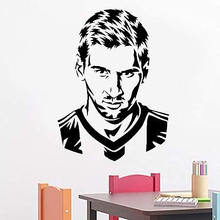 HNXDP jugador de fútbol silueta etiqueta de la pared ...