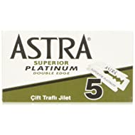 Astra Platinum Double Edge Safety Razor Blades ,100 Blades (20 x 5)