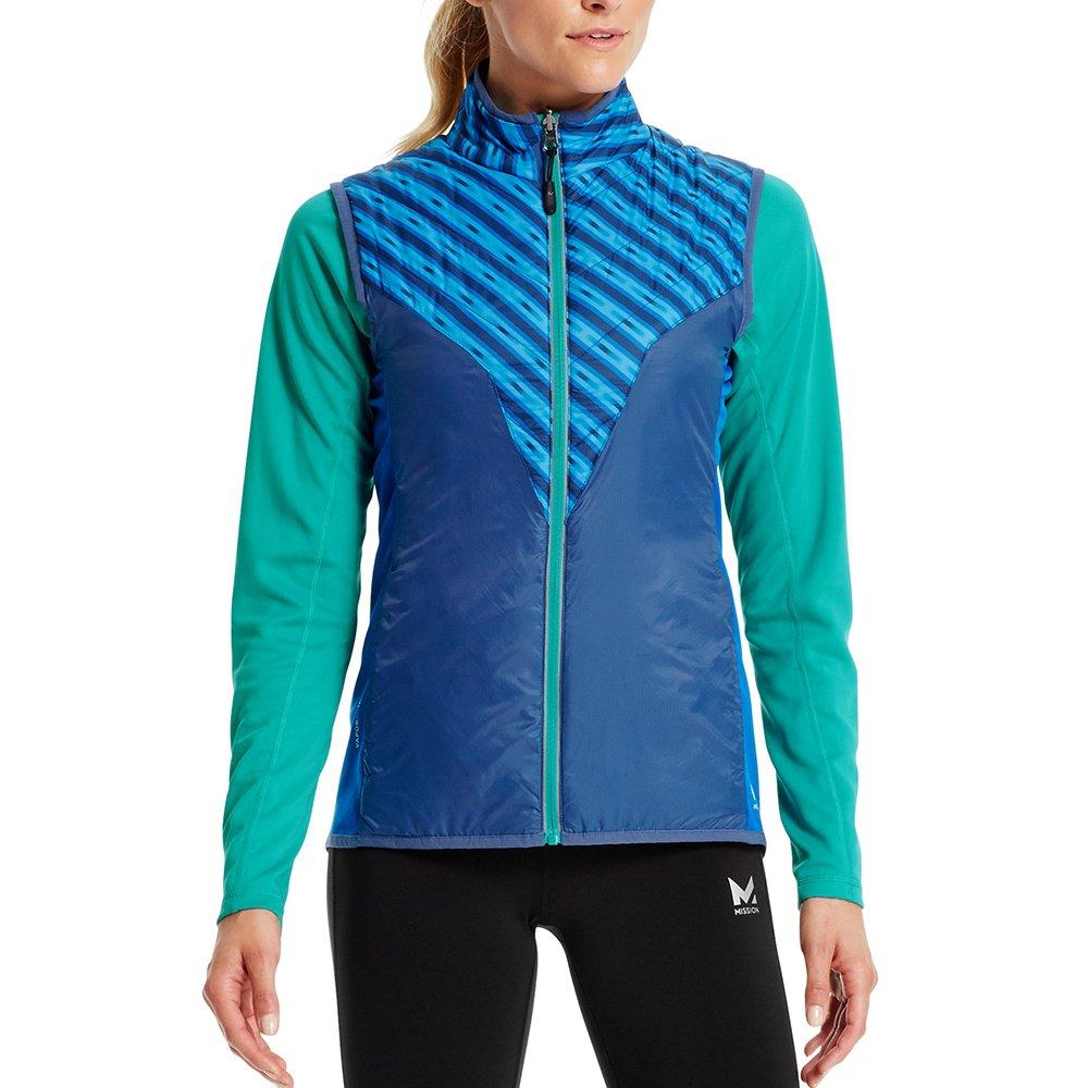 Mission Women's VaporActive Shift Reversible Vest, Rush Lapis Blue/Estate Blue/Viridian Green, Medium