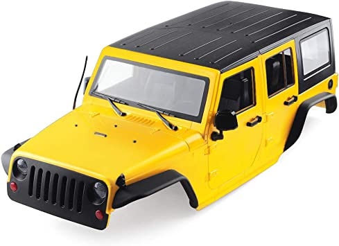 INJORA RC Carrocería Kit 313mm Distancia Entre Ejes Corpo Cuerpo Jeep Wrangler Body Car Shell para 1/10 RC Crawler Axial SCX10 SCX10 II 90046 90047 ...