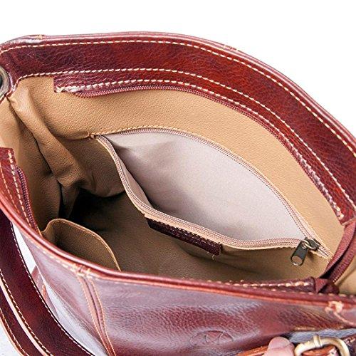 34x12 Shopper Pelle H32 cuoio Cm Mano Borsa In A Vera Fatto Italia Fiordaliso Michelangelo Cuoio 8qvf4P